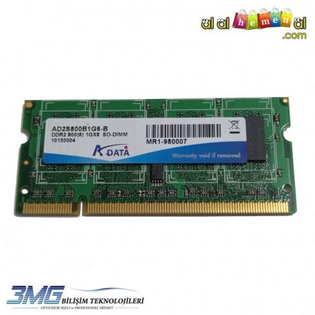 Adata DDR2 1GB 1Gx8 800Mhz AD2S800B1G6-B Notebook Ram (2.El Ürün)