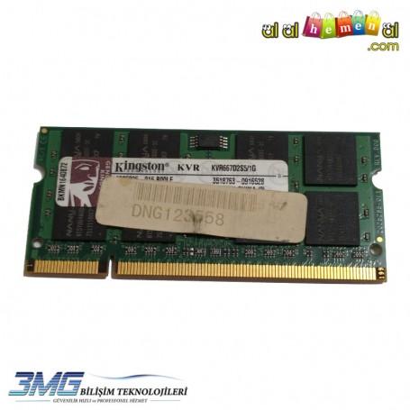 Kingston DDR2 1GB KRV667D2S5 667Mhz Notebook Ram(2.El Ürün)