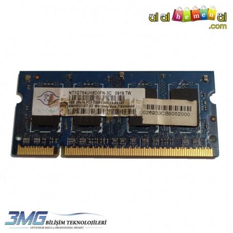 NANYA DDR2 1GB 2Rx16 PC2-5300S-555-13-A2 667Mhz Notebook Ram (2.El Ürün)