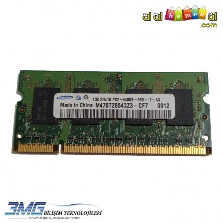 Samsung DDR2 1GB 2Rx16 PC2-6400S-666-12-A3 800Mhz Notebook Ram(2.El Ürün)