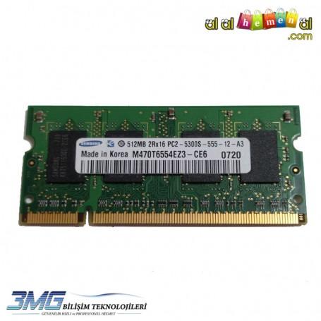 Samsung DDR2 512MB 2Rx16 PC2-5300S-555-12-A3 667Mhz Notebook Ram (2.El Ürün)