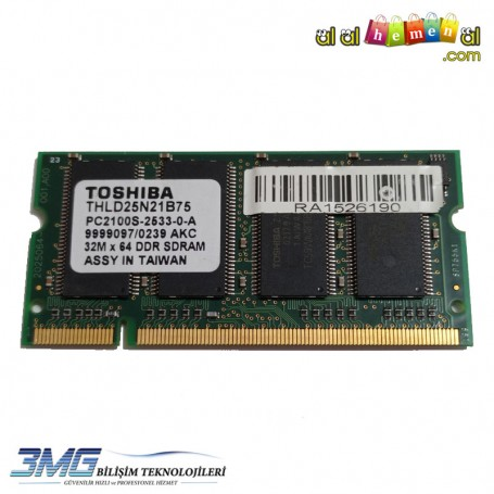 Toshiba DDR 256MB PC2100S-2533-0-A Notebook Ram (2.El Ürün)