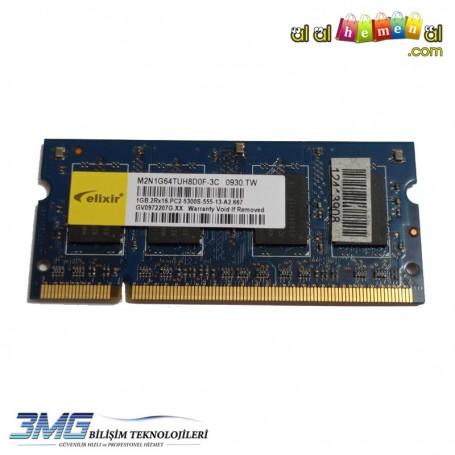 elixir DDR2 1GB 2Rx16 PC2-5300S-555-13-A2-667 Notebook Ram(2.El Ürün)